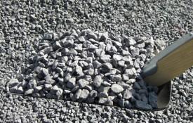 Granit skærver grå